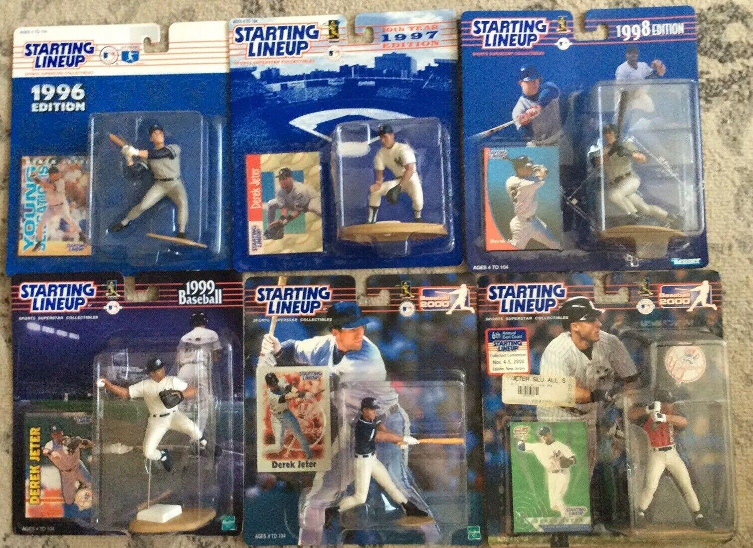 Estrellating Line-Up Derek Jeter Set Figuras De Acción (6) 1996-2000 Plus Raro 6 thannual
