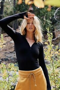 New-Free-People-Womens-Activewear-Long-Sleeve-Half-Zip-Pullover-Top-Xs-L-30