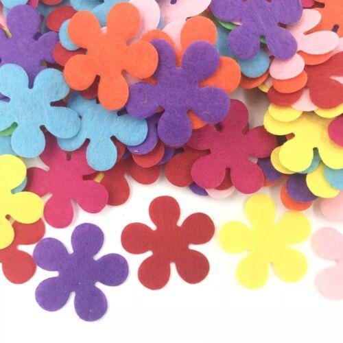 200X blumen form Filz Appliques mischfarben dekorative kleidung DIY 28mm