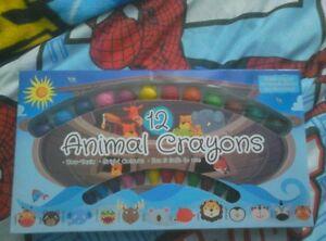 12 Animal Crayons-afficher Le Titre D'origine ModèLes à La Mode
