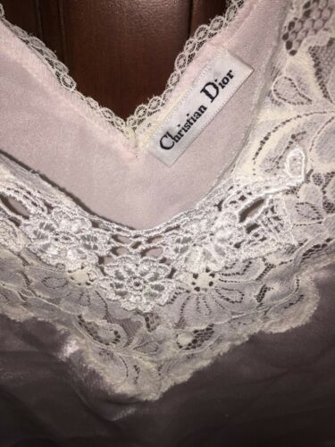 Christian Dior Camisole Vintage  Pink and Lacy  Si