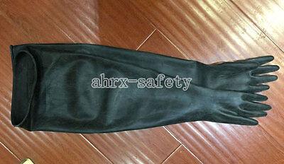 """Shoulder Length Latex Rubber Work Safety Gloves 40 Mil Super Long 80cm 31.5/"""""""