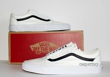 Vans Old Skool Zip Premium Leather True White Men's Size 12