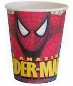 Spiderman-Party-Supplies-Hot-Cold-Paper-Party-Cups-266ml-8-pack-Old-Design