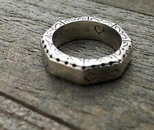 RETIRED Brighton Silver Octagon Filigree Scroll Ring Size 6 **RARE**