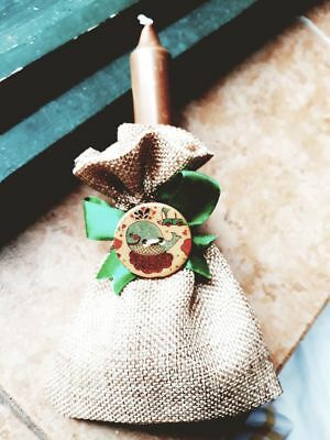 20 Sacchetti Confetti Rustici Hand Made Bomboniera Matrimonio Battesimo Comunion