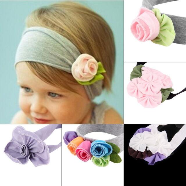 Baby Girls Cute Infant Toddler Kids Headband Bow Flower Hair Band Headwear KK