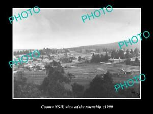 OLD-LARGE-HISTORIC-PHOTO-OF-COOMA-NSW-VIEW-OF-THE-TOWNSHIP-c1910