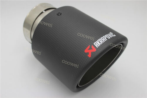 114mm Akrapovic Carbon Exhaust Universal Muffler End Tip 76mm Outlet Inlet