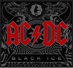 AC-DC-Black-Ice-Woven-Patch-Sew-On-Official-Licensed-Band-Merch-Brand-New-Angus