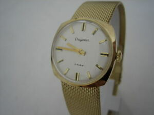 NOS-NEW-VINTAGE-RARE-MECHANICAL-HAND-WINDING-ANALOG-DUGENA-WOMEN-039-S-WATCH-1960-039-S
