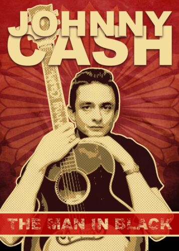 Johnny Cash The man in Black Canvas Wall Art Poster Print Music Artist Album Cd