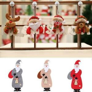 Tree-Decoration-Wooden-Ornaments-Snowman-Elk-Santa-Xmas-Hanging-Claus-Bear-Y9Q0