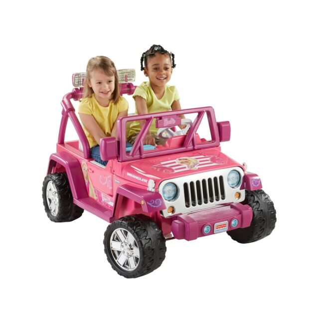Power Wheels Barbie Deluxe Jeep Wrangler 12 Volt Battery Powered Ride On