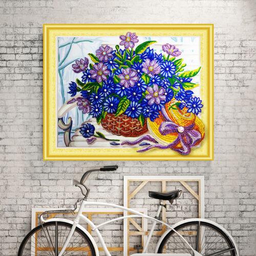 Diy 5d Diamond Embroidery Special Shaped flower basket Diamond Painting decor UK