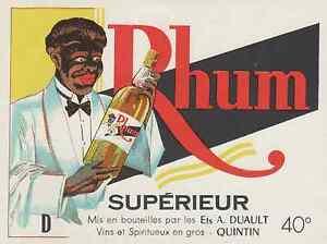 """""""RHUM SUPERIEUR - Ets A. DUAULT QUINTIN"""" Etiquette litho originale vwzSe95j-09104340-342011629"""