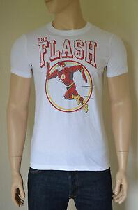 New abercrombie fitch vintage flash tee white superhero for Retro superhero t shirts