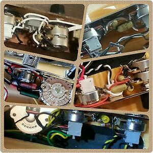 fender telecaster tele 5 way control plate complete wiring harness image is loading fender telecaster tele 5 way control plate complete