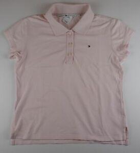 Tommy Hilfiger Damen Poloshirt Gr.M rosa uni -S700