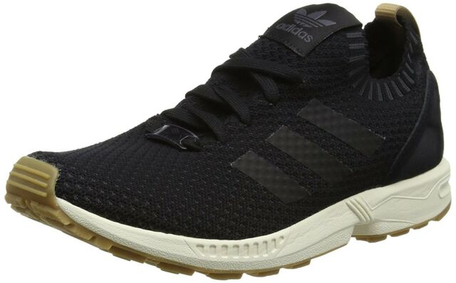 adidas ZX Flux Primeknit Originals Trainers Shoes BA7371 Black Gum Zx750 850 UK 7.5