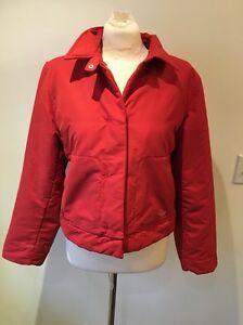 Super-Cool-80-039-s-Vintage-Esprit-Sport-Hipster-Red-Crop-Winter-Jacket-Sz-M-EUC