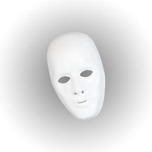 Carnaval-Blanc-Masque-Visage-Male-Robot-Costume-Halloween-Accessoire