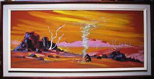 R-E-Anning-original-oil-titled-034-Outback-Australian-Scene-034
