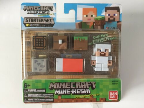New BANDAI Minecraft MineKeshi Survival Pack With Steve Starter Set #01