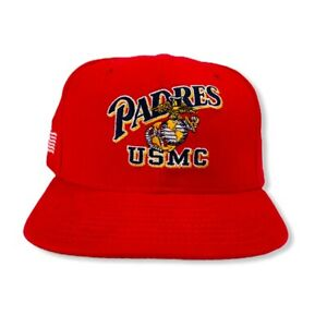 United-States-Marine-Corps-New-Era-Padres-Red-Snapback-Men-039-s-Sz-M-L