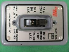 Arrow Hart 6808gd Manual Motor Starter Toggle Switch 2hp 120 600vac Enclosure