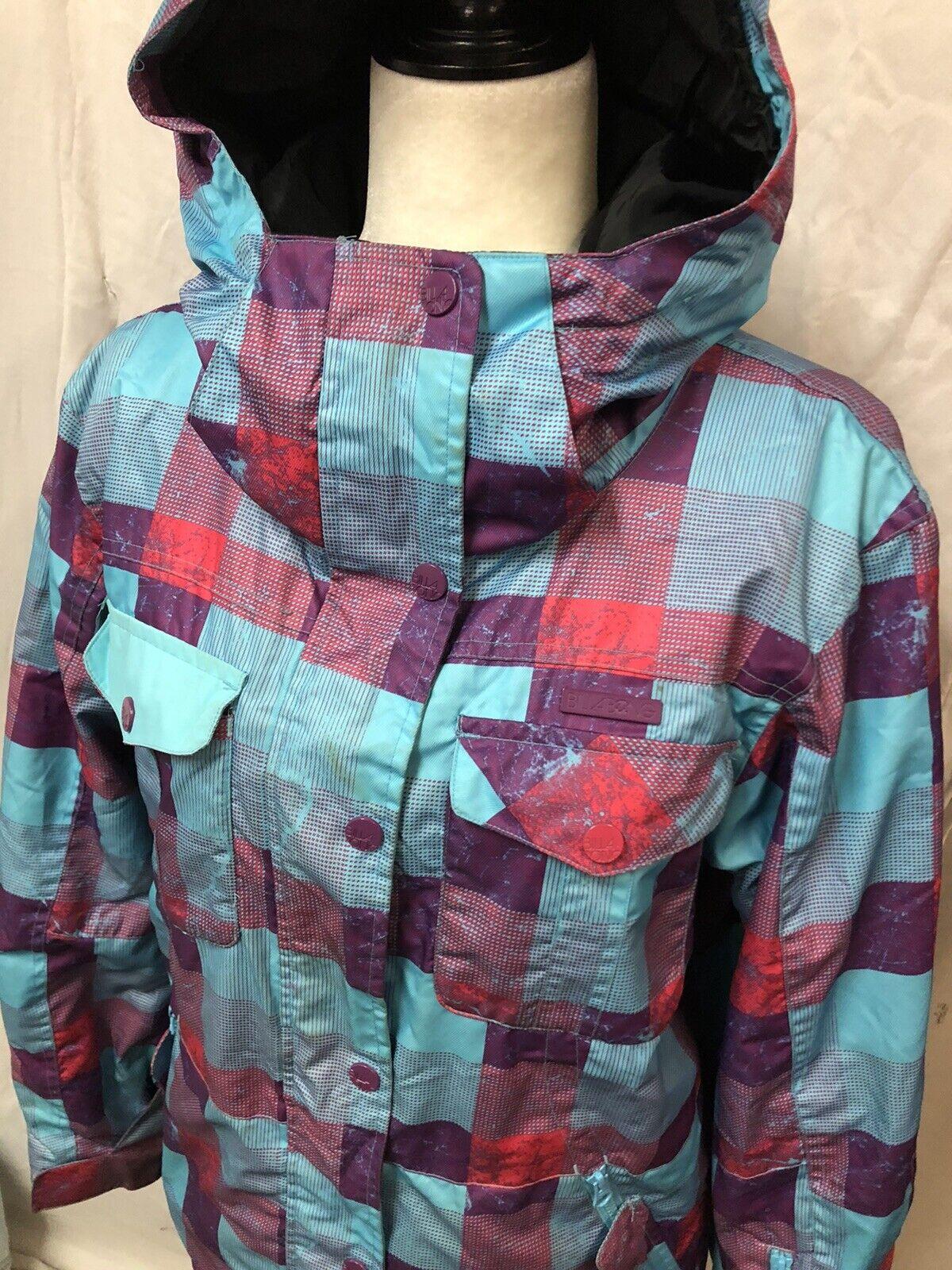 Women's Billabong Multi Color Ski Jacket Coat Sz … - image 2