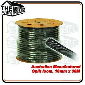 100% Premium Australian Made Split Loom Tubing Wire 16mm Conduit Cable 30m UV