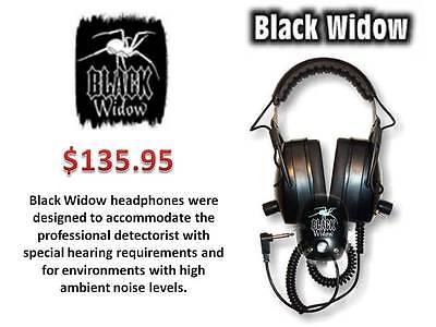 "DetectorPRO Gray Ghost /""Black Widow/""  Headphones  Metal Detecting Free Ship!!"