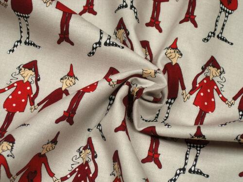 Weihnachtsstoff CPF Christmas Dancing 1140.01 Baumwolle 0,5m