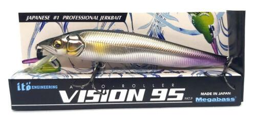 Megabass VISION 95 Q-GO Suspend Japanese #1 Professional Jerkbait Fishing Lure