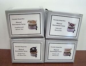 PHB-Midwest-of-Cannon-Falls-Hinged-Boxes-Musical-Instruments-Set-of-4