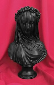 Veiled-Lady-Bust-Sculpture-in-Black-37CM-14-5-034