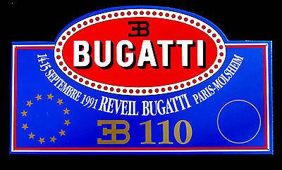 Fan Apparel & Souvenirs Sports Mem, Cards & Fan Shop Intellective Reveil Bugatti Paris 1991 Eb110 Placca In Plastica Plastic Plate Making Things Convenient For The People
