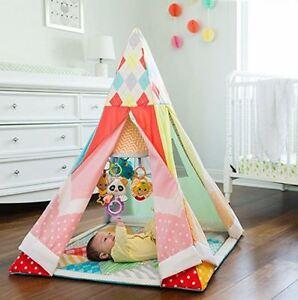 Image is loading Baby-Play-Mat-Teepee-PlayHouse-Kids-Indian-Tent- & Baby Play Mat Teepee PlayHouse Kids Indian Tent Children Indoor ...