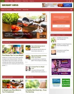 Weight Loss Niche Website Blog Wordpress | Free Ebay Amazon Clickbank Business