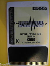 KORG Vintage 1991 RARE WS1 WS WAVESTATION Internal PRE-LOAD DATA BANK 3 WPC-OAD