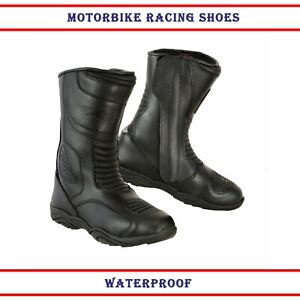 New-Mens-Motorbike-Boots-Biker-Waterproof-CE-Armoured-Shoes-Motorcycle-Leather