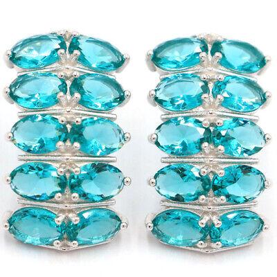 Genuine Blue Kyanite Dangle Drop Lady/'s Earrings with Genuine Gemstone and Sterling Silver