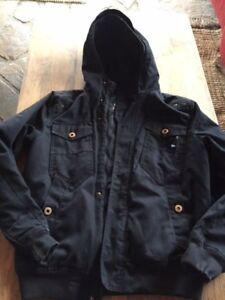 online store d828c 5ea0d Details zu sportliche schwarze Übergangsjacke, leichte Winterjacke, Blouson  Gr.S (M) Gr.170