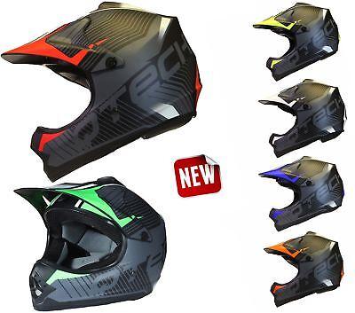 57-58cm Qtech Kinder Motocross MX Helm MX BMX Quad ATV Motorradhelm Motorrad Rot L