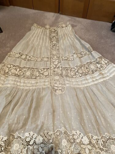Antique Skirt/Slip With Beautiful Lace
