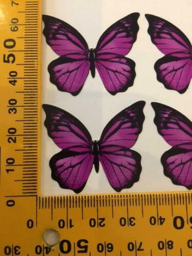 Butterfly Decals 3 Différentes Couleurs Imprimé Sur Clair Vinyle verre bouteilles de vin