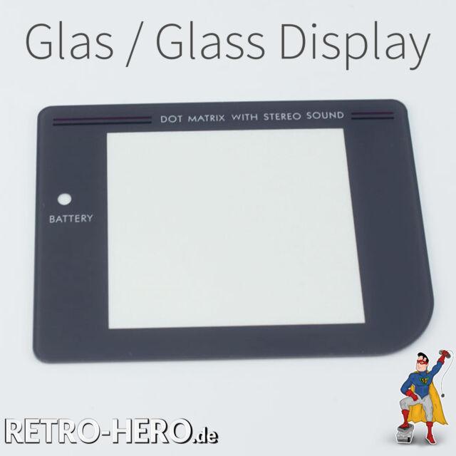 Game Boy Classic Display Scheibe (aus echtem Glas) Grau LCD Linse Screen gameboy