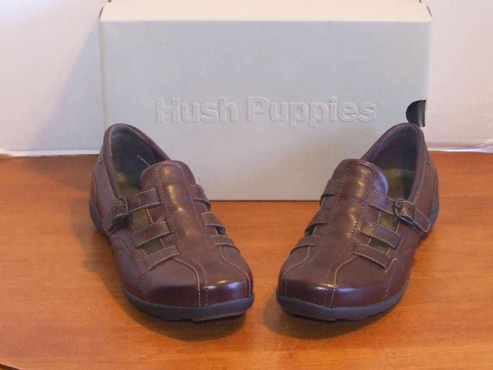 Hush Puppies Ionic Coffee Bean leather flats chaussures 10 m