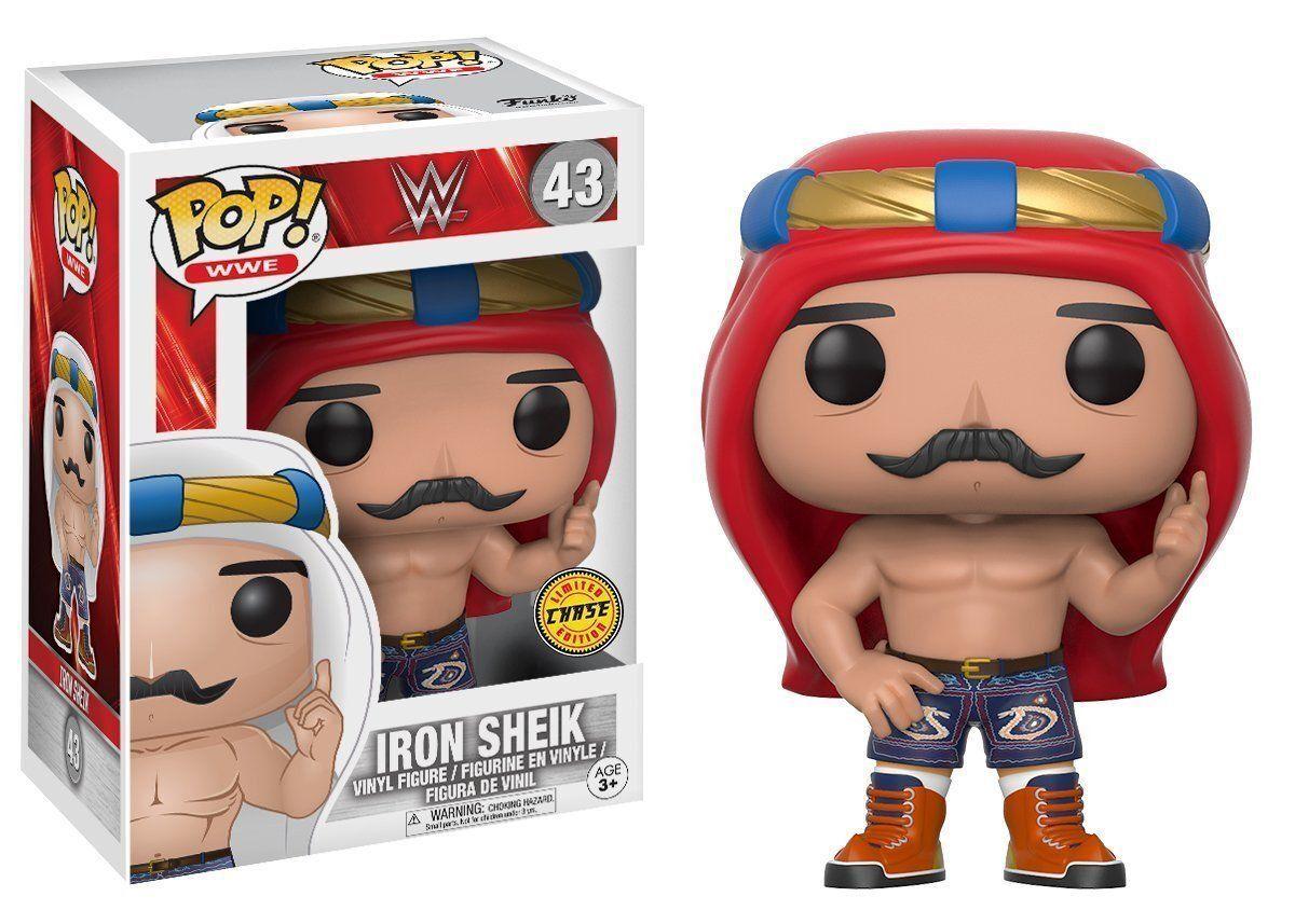 FUNKO POP WWE  43 IRON SHEIK (rot KEFFIYEH) CHASE VINYL FIGURE  FAST POST